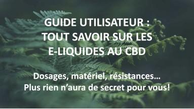 Guide : Les E-Liquides à base de CDB
